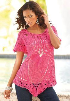 Free Crochet Plus Size Dress Pattern : 1000+ images about Crochet - Plus Size on Pinterest Plus ...