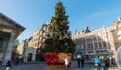 Christmas Tree in Covent Garden Strand London England