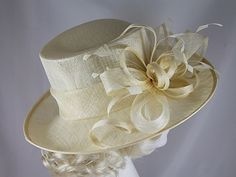 9ebad3f82e2 Wedding Hats 4U - Hawkins Collection Upbrim Occasion Hat in Cream - WH244 Occasion  Hats
