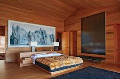 4 Design Lessons from Architect Peter Marino's Rocky Mountain Chalet Minimalist Interior, Minimalist Living, Architectural Digest, Interior And Exterior, Interior Design, Modern Interior, How To Dress A Bed, Ikea, Hamptons House