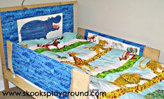 Gepolstertes Kopfteil und Herausfallschutz für Kinderbett