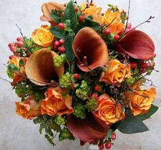 Glorious Autumn Bridal Bouquet Design by Rose & Co Flowers