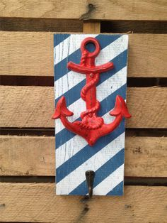 Nautical Anchor Hook,Ship Anchor,Wall Metal Hook,Bath Towel Hook,Beach House Decor,Accessory Holder,Distressed Ornate Hanger by LacyBellesBoutique on Etsy https://www.etsy.com/listing/195643175/nautical-anchor-hookship-anchorwall