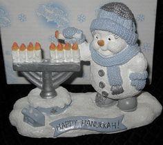 SNOW BUDDIES SNOWBUDDIES SNOWMAN FIGURINE JEWISH HAPPY HANUKKAH #95526 2001