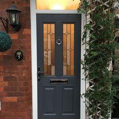 A lovely Slate Grey Jacobean. Rockdoor manufacture the most secure Front doors, Back Doors and Barn Doors in the UK - design your dream door today at www.rockdoor.com
