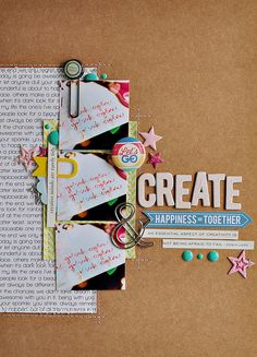 #papercrafting #scrapbook #layouts: Let's Go Create by ~Sasha, via Flickr
