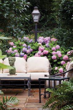 Garden lounging.
