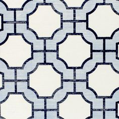 Phillip Jeffries Imperial Gates Periwinkle and Navy Wallpaper