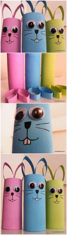 Have students made their own pencil pots. Toilet Paper Roll Bunnies Craft for Kids or use plumping pipe.