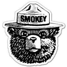 Smokey Bear sticker
