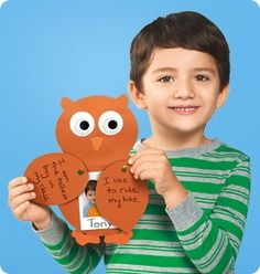 Who Am I? Owl craft from Lakeshore Learning. Free templates included!