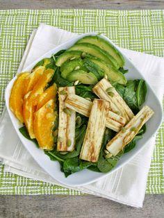 Hearts of Palm, Orange & Avocado Salad