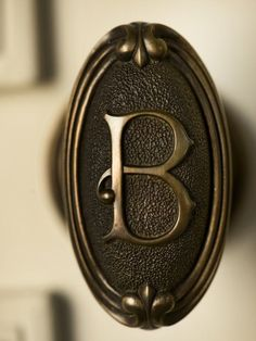 Gabriel Builders Mediterranean Knobs~ This Would Be Fun With Your Own  Initial!