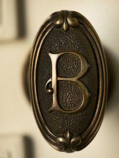 Monogrammed doorknob