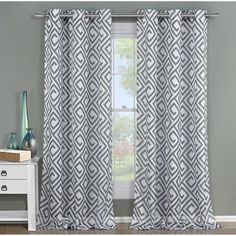 Duck River Textile ANQSL=12 /10792 Anna Silver 84 x 54 In. Two-Piece Curtain Set