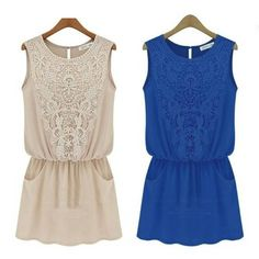 New Women Ladies Fashion Casual Chiffon Dress Evening Cocktail Party Sundress  #Unbranded #Sundress #Casual