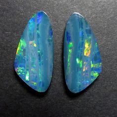 Video - Natural Australian Opal Cabochon Doublet - Matching Pair - Coober Pedy Opal Doublet - Pear/T As You Like, Give It To Me, My Gems, Doublet, Australian Opal, Just Giving, True Beauty, Im Not Perfect, Pairs