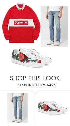 """ghs"" by ianvilla on Polyvore featuring 3x1, Gucci, men's fashion and menswear"