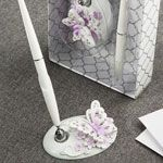 Lavender Butterfly Design Wedding Pen Set