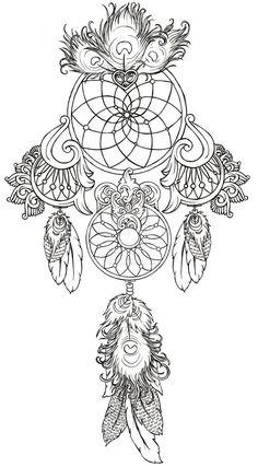 art nouveau dream catcher tattoos - Google Search