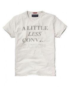 aff32c5bdc9947 Fancy - Crew neck slogan tee - Tees - Scotch  amp  Soda Online Shop Slogan