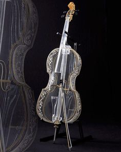 A glass violin that can actually be played. Think it sounds any different? http://www.youtube.com/watch?v=s50DKzxlW2U