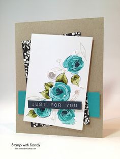 Stamp with Sandy: Painted Flowers for The Paper Players