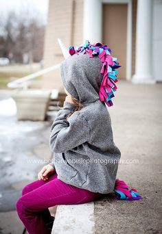 ready to ship Sz 4 UNICORN Hoodie great by PipAndSqueakBoutique