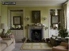The sitting room at The Old Rectory, built 1749, home of Sir John Betjeman. Located in Farnborough, Berkshire, England.