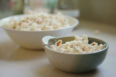 Plain popcorn is a tasty, frugal and healthy snack.   Here's three of my favourite popcorn recipes:  Sweet and salty rosemary popcorn,  Sweet and spicy popcorn, and  Dijon buttered popcorn