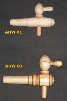 Small & Medium Sized Taper Wooden Wine Taps, Vinegar Spigots & Faucet, Faucets for Wood Barrel, Barrels, Cask, Casks, Wooden Keg, Kegs Use
