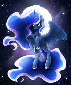 Princess of the night by Otkurzacz My Little Pony Drawing, Mlp My Little Pony, My Little Pony Friendship, Princesa Celestia, Celestia And Luna, Unicornios Wallpaper, Little Poni, Princess Twilight Sparkle, Nightmare Moon