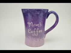 How to Paint Pottery with the Ombre Effect  #pottery