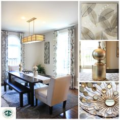 Home decor inspiration featuring The Vanderbilt, a luxury townhome by NVHomes- Dining- http://www.villagesofurbana.com/nvhomes.html #homedecor #decorating #dining #diningroom #contemporary #diningtable