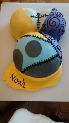 """Nightmare Before Christmas baby shower cake """"Sally"""", This is my 1st ever and I am so proud :)"""