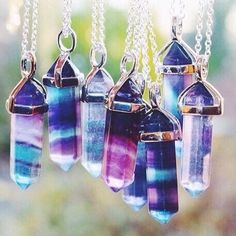 Necklaces with crystals