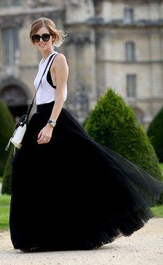 Paris Fashionweek Wearing Alberta Ferretti by The Blonde Salad #fashionlook #fashionbloggers