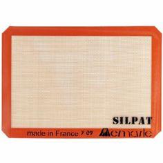 Silpat Non-Stick Baking Mat, 11 5/8 x 16 1/2-inches, Half Sheet Size -- no more parchment paper!