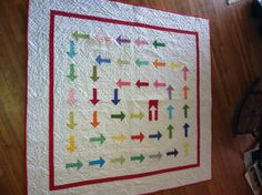 Kona Challenge quilt from the Tucson MQG. Love those arrows!