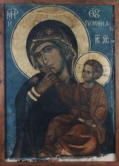 One of the glories of our Orthodox church is its use of iconography. And one of the most familiar figures in Orthodox Iconography is the Virgin Mary, the Theotokos. Religious Images, Religious Icons, Religious Art, Byzantine Icons, Byzantine Art, Paint Icon, Images Of Mary, Mama Mary, Holy Mary