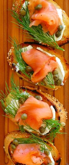 Smoked salmon dill capers appetizer