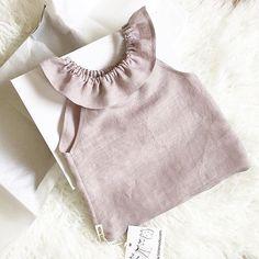 Handmade Linen Ruffle Top | TotsModa on Etsy