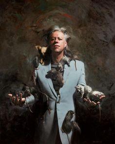 Artodyssey: Mitch Griffiths,  Portrait of Bob Geldof, Oil on canvas.
