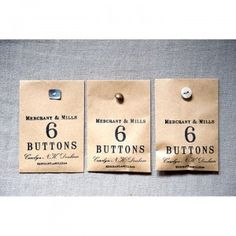 Merchant & Mills Mother of Pearl Buttons by Warp & Weft | Exquisite Textiles