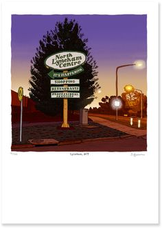 Signed and numbered high resolution digital print of the North Lytham Shopping Centre sign at sunset. Available in;A4 Signed Limited edition of 300 $45.00A3 Signed Limited edition of 100 $9...