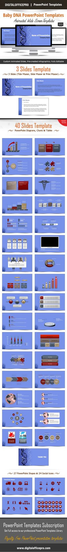 Pin by poweredtemplate on powerpoint charts and diagrams baby dna powerpoint template backgrounds malvernweather Images