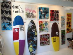 Two Crows Surfboards Art Exhibit at The Heather Brown Gallery in Tokyo Japan