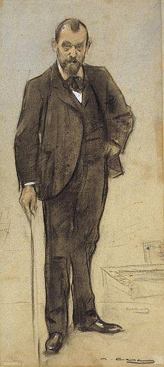 Portrait Of Joan Francesc Chia  Ramon Casas