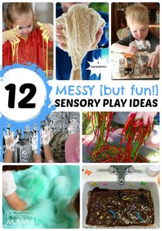12 Messy - But Fun - Sensory Play Ideas inspired by @Huggies #TripleClean