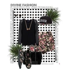 """""""flower lover sweet girl out look"""" by krajobrazy on Polyvore"""